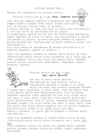 Piccole storie ortografiche by silvia castro issuu for Parole con gi