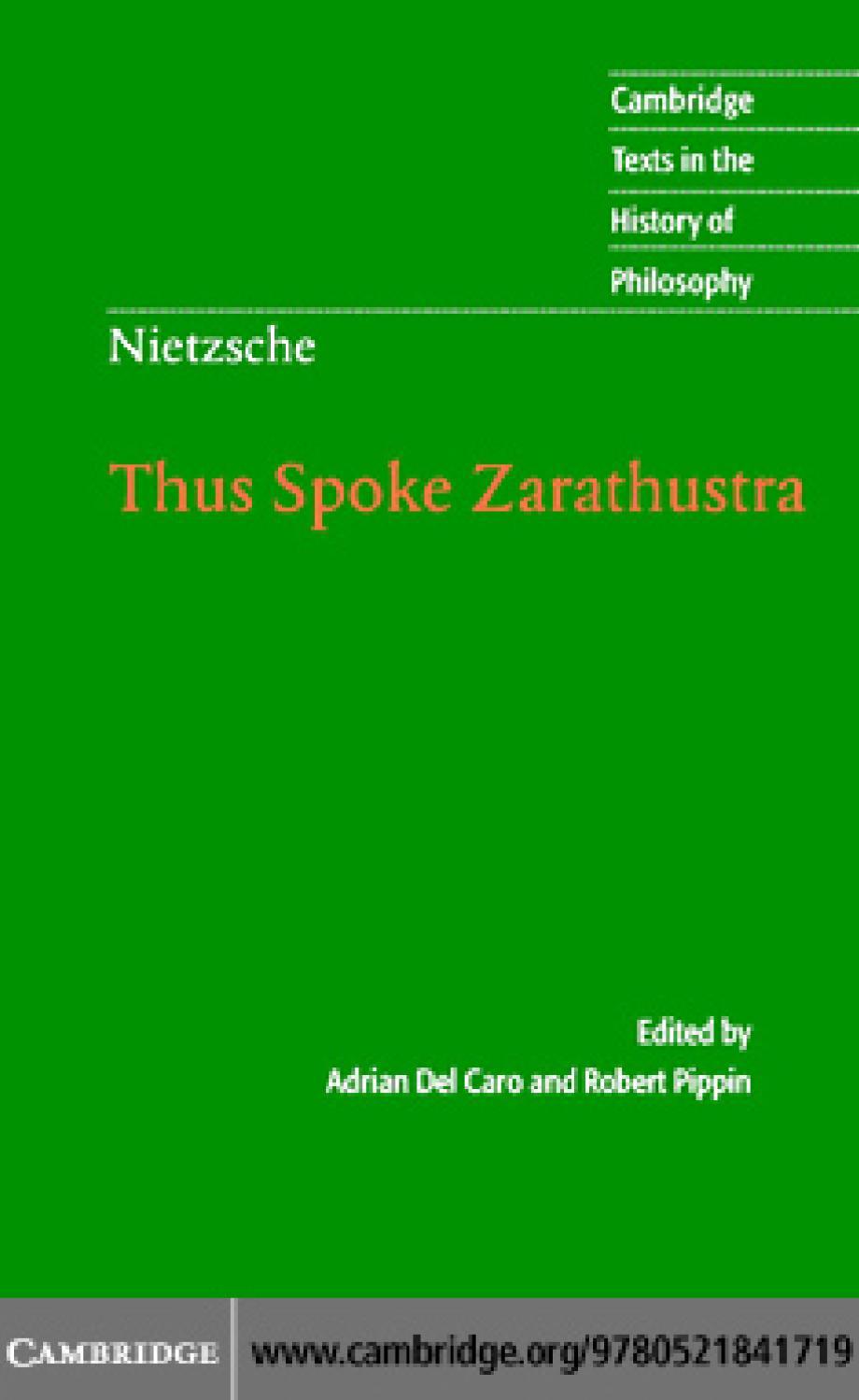 Nietzsche - Thus Spoke Zarathustra (CUP) by naquash v - issuu