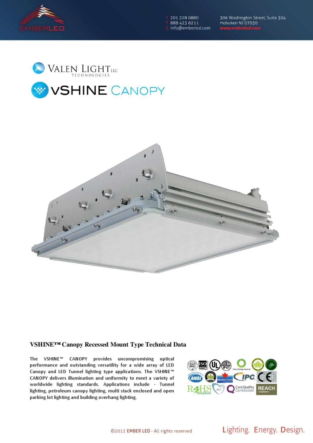 Ember Led Vshine Canopy Light Recessed By Jonathan Robins Tunnel Lighting Diagram Issuu
