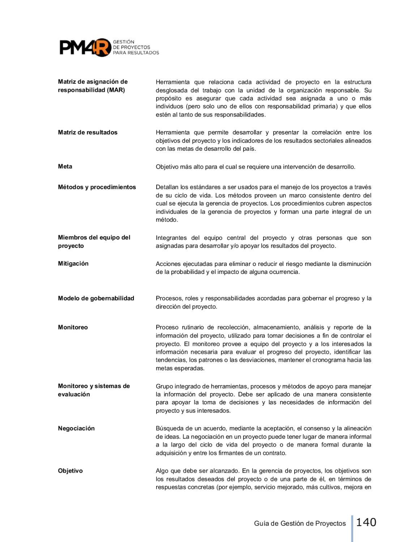 Guia De La Gestion De Proyectos Para Resultados 2da Edicion