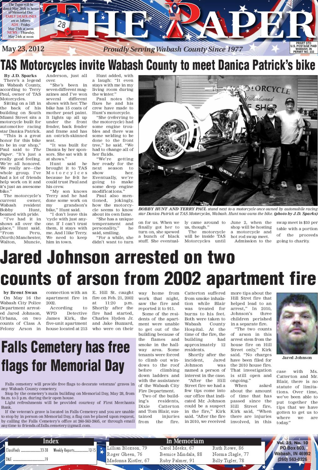 May 23, 2012 by The Paper of Wabash County - issuu