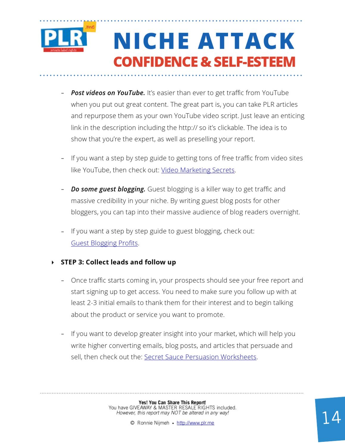How to Make Money in the Confidence and Self-Esteem Niche by