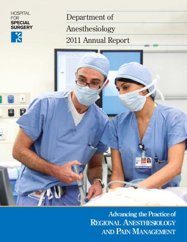 Department Of Anesthesiology Annual Report  By Hospital For