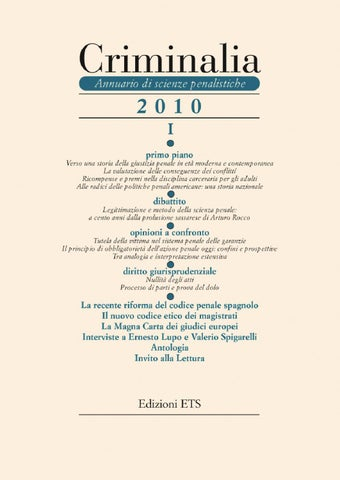 Criminalia 2010 - Parte I by Edizioni ETS - issuu a6a80dc4f89