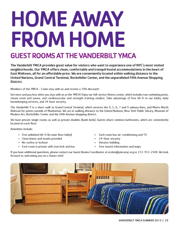 Vanderbilt Y Summer 2012 Program Guide by New York City's