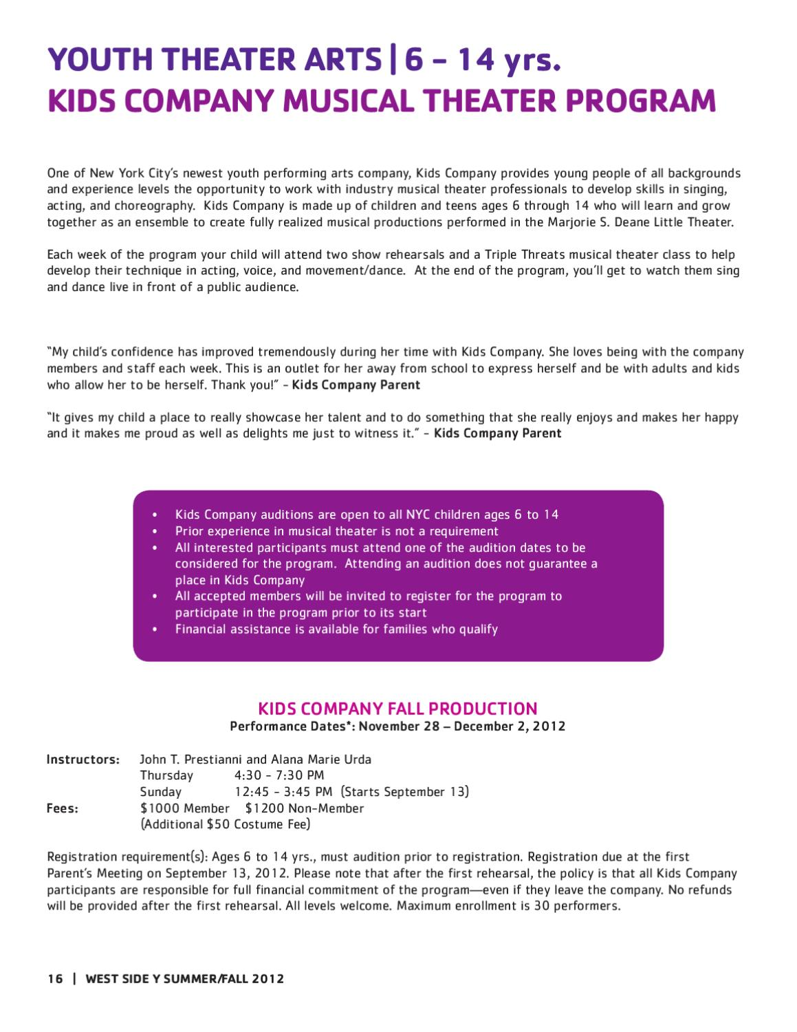 Really 16 Is Appropriate Age To Allow >> West Side Youth And Family Program Guide By New York City S Ymca Issuu