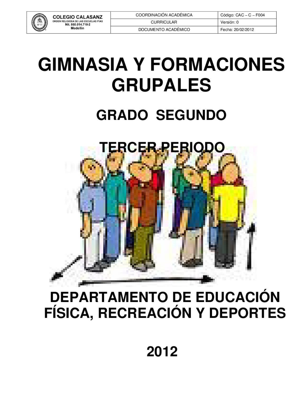 Gimnasia y formaciones grupales by fabian pino issuu for Definicion de gimnasia