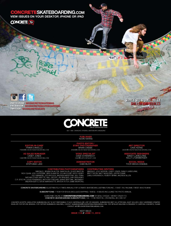 Concrete Skateboarding by Concrete Skateboarding Magazine