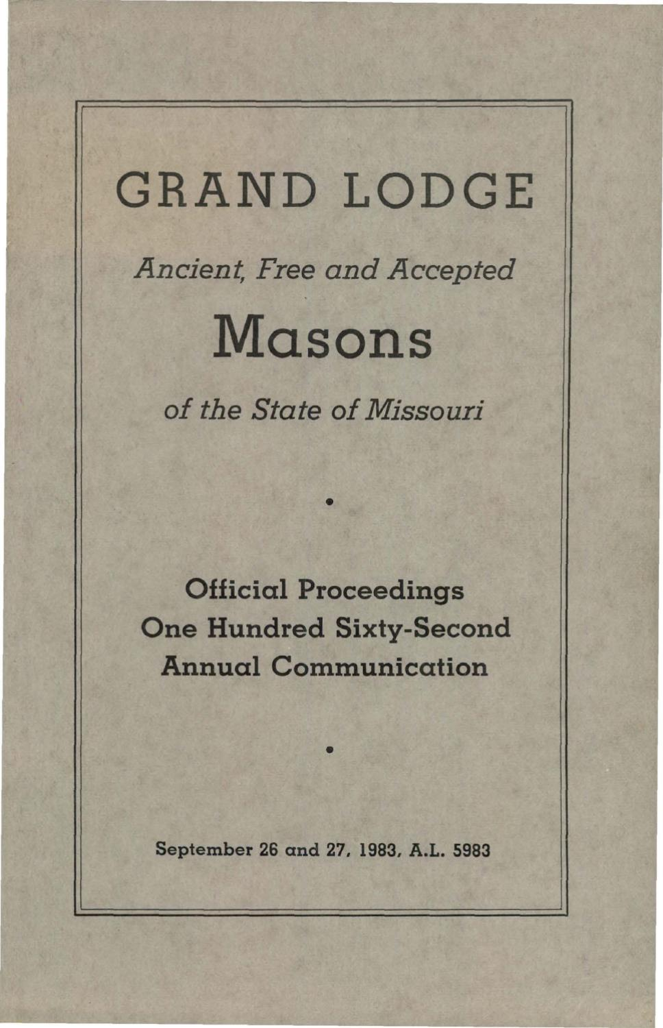 1981 proceedings grand lodge of missouri by missouri freemasons 1981 proceedings grand lodge of missouri by missouri freemasons issuu aiddatafo Images