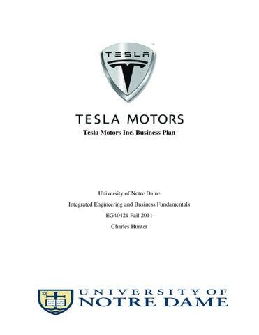 tesla motors business plan