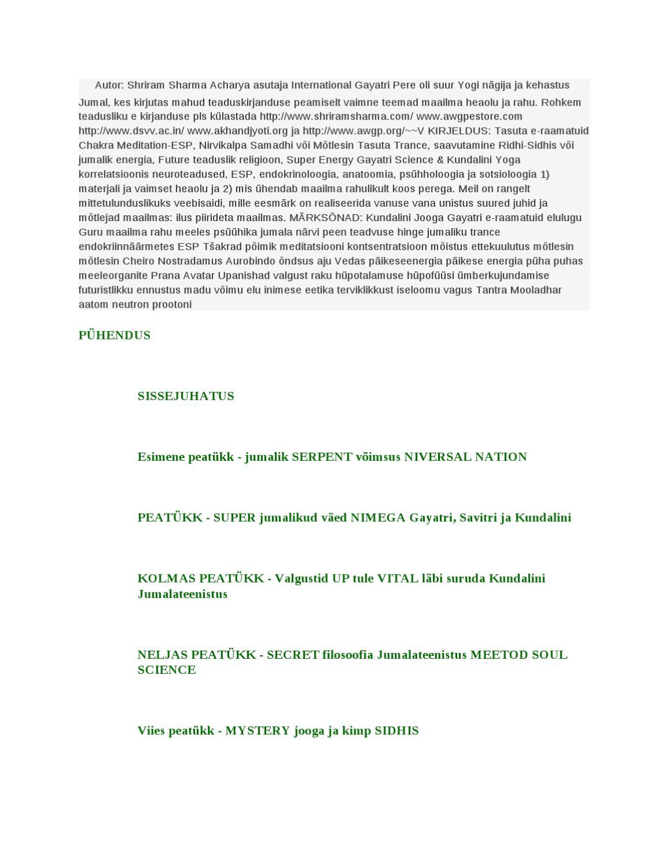 a0cb06ce696 ESTONIAN BOOK-DIVINE SERPENT POWER-KUNDALINI AWAKENING by Ashok Rawal -  issuu