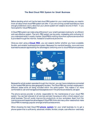 Page 1 The Best Cloud Pbx System For Small Business