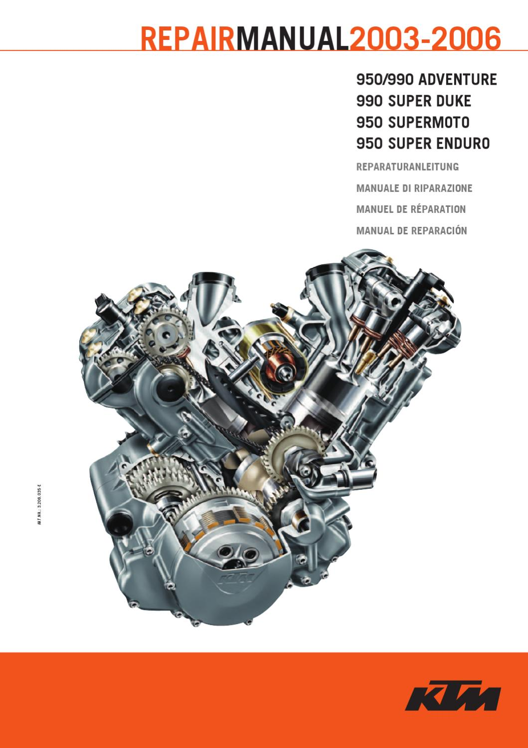 repair manual ktm 990/950 lc8 2003-2006 by ktm lc8 - issuu  issuu