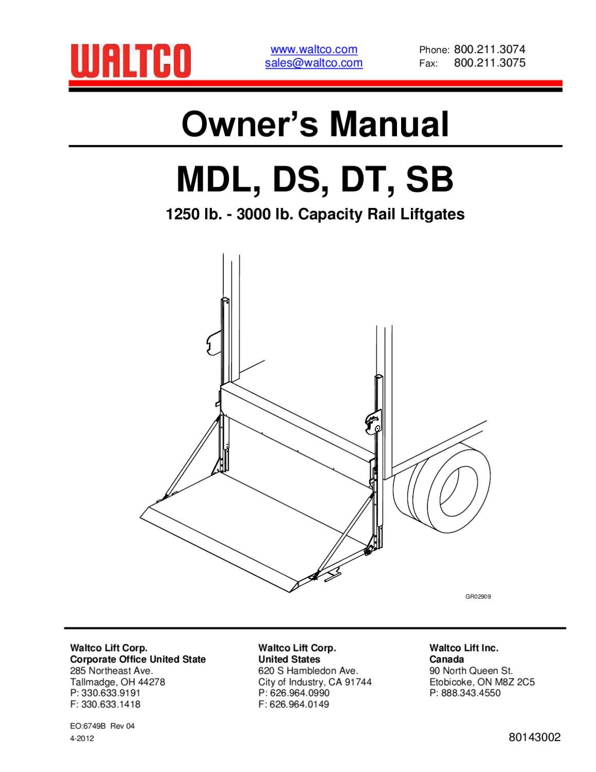 waltco lift gate wiring diagram maxon lift wiring diagram