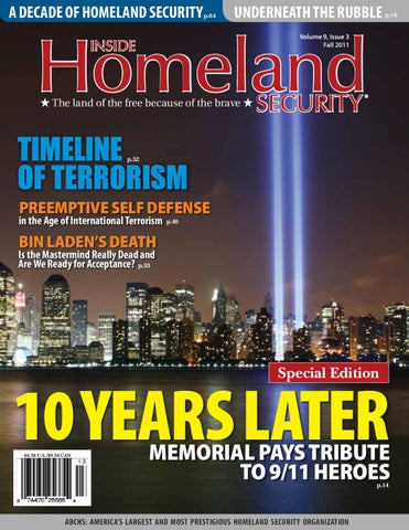 Inside Homeland Security Special Edition Fall 2011 By Cnta Inc