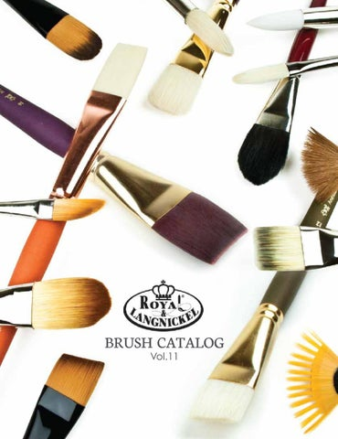 Firm Bone Artists Brushes Cheap Price Royal And Langnickel Rset-9318 Long Handle Taklon Variety Brush Set