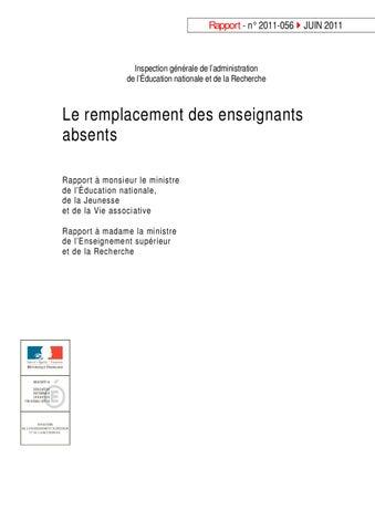 Igen 2011 Le Remplacement Des Enseignants Absents By Luiz