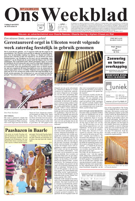 947ca99c478 Ons Weekblad 06-04-2012 by Uitgeverij Em de Jong - issuu