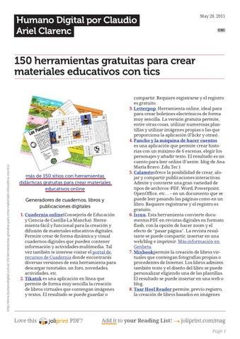 150 Herramientas para crear y publicar contenidos by German Chapeta ...