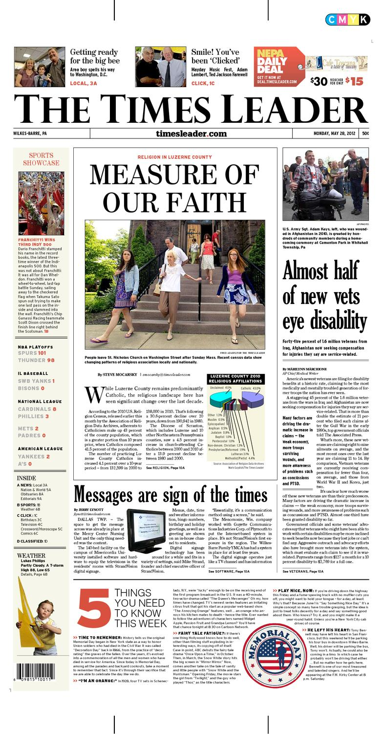 Times Leader 05 28 2012 By The Wilkes Barre Publishing Company Issuu Free Ongkir Philips Docking Apple Dcm 2260