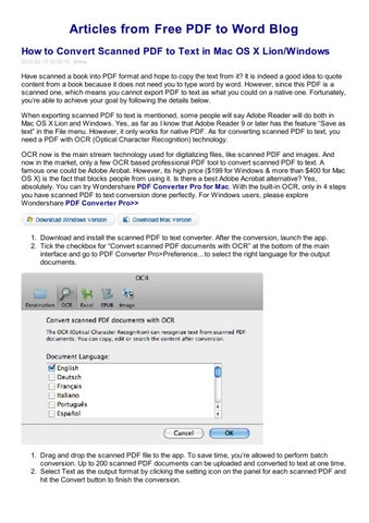 Word pdf convert scanned to