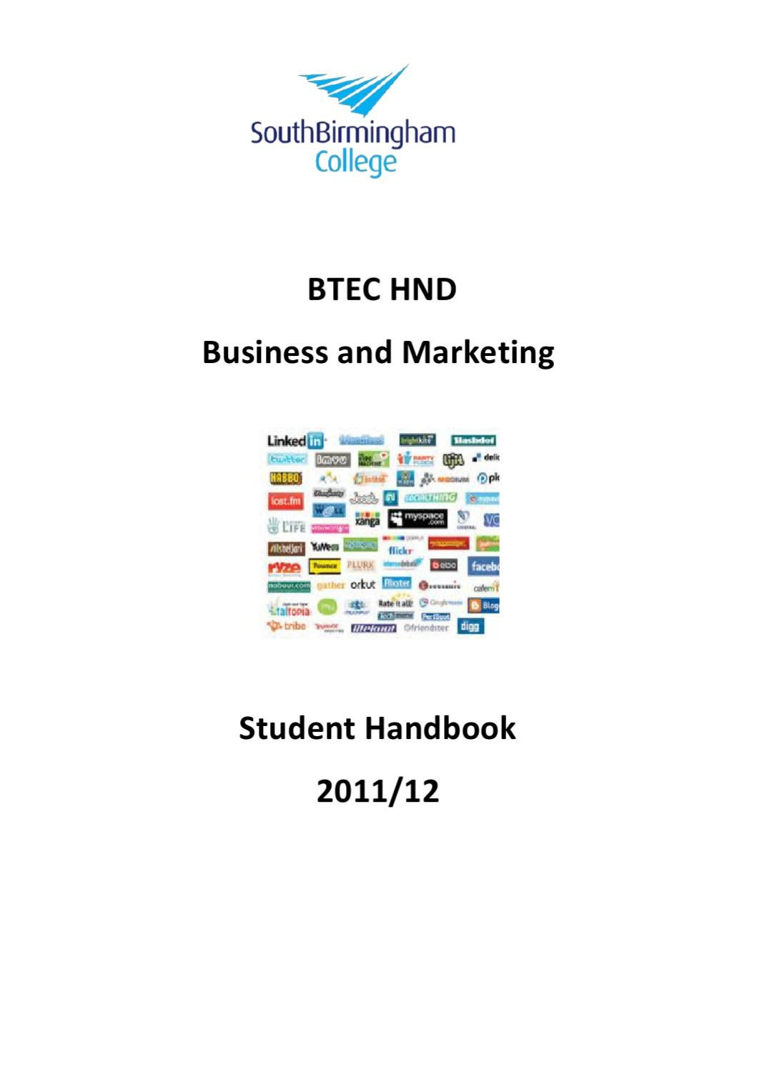hnc and hnd marketing principles Marketing essentials, human resource management, management  year 2  will also cover: organisational behaviour, business strategy, research project,   in addition, there is the opportunity within the hnd business.