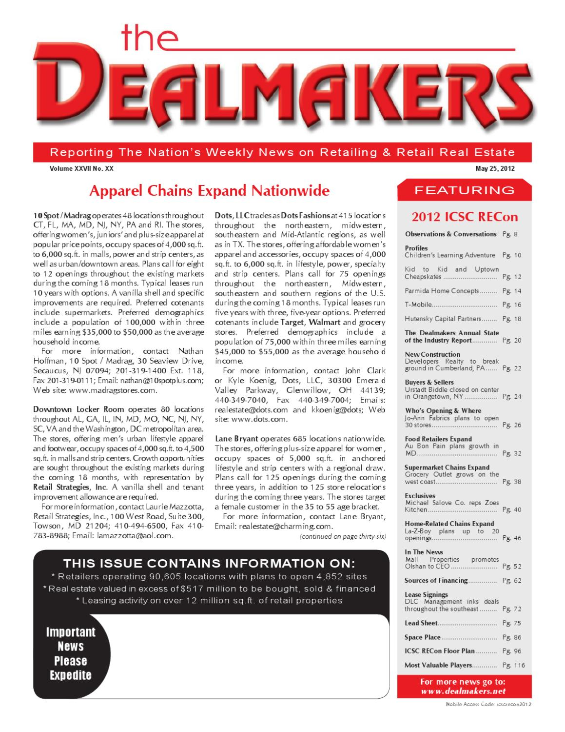 Dealmakers Magazine | May 25, 2012 by The Dealmakers Magazine - issuu