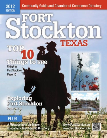 Fort Stockton Chamber Of Commerce Directory Community
