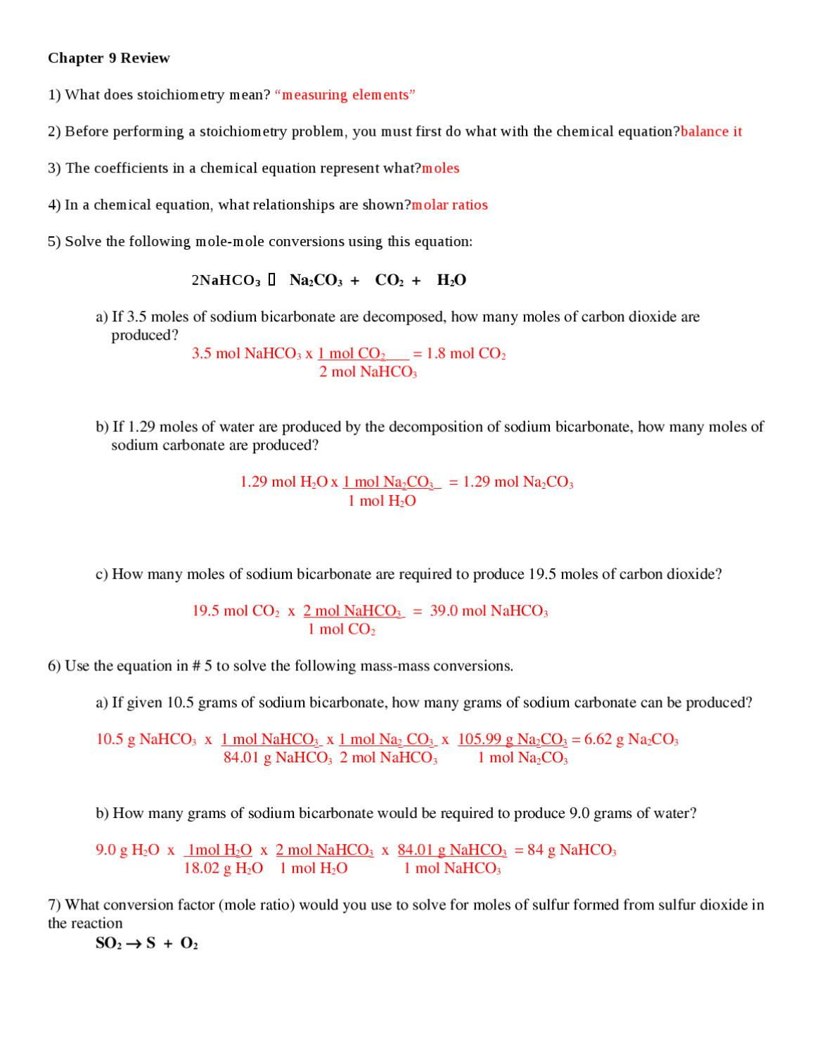 Chapter 11 Test  Review Answer K By Hc Communications