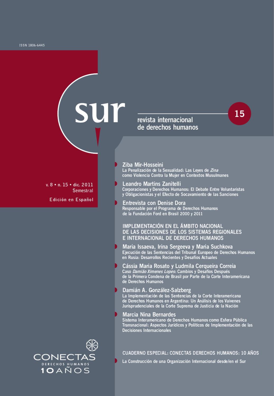 Revista Sur 15 By Conectas Direitos Humanos Issuu