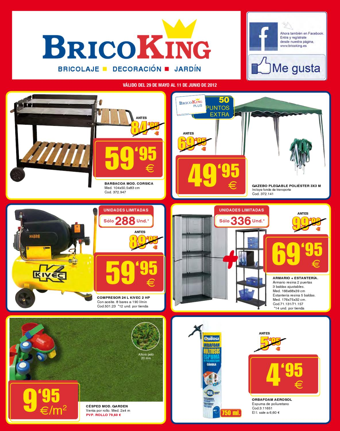 Bricoking junio 2012 barabacoas pergolas y muebles de for Muebles bricoking