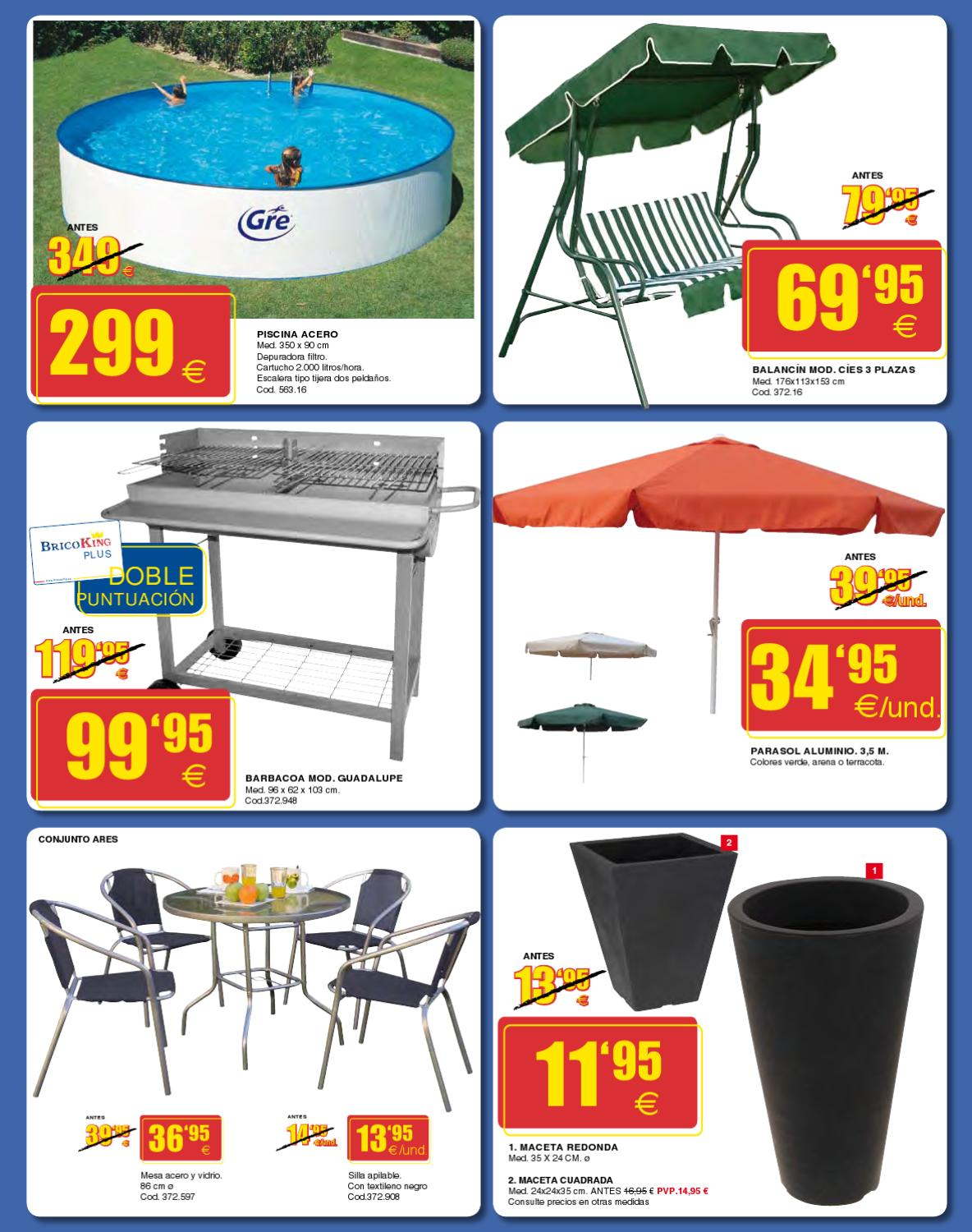 Bricoking junio 2012 barabacoas pergolas y muebles de for Piscinas bricoking