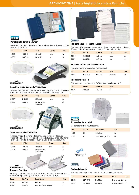 Schedario Rotativo Per Biglietti Da Visita.Catalogo Aden By Aden Srl Issuu