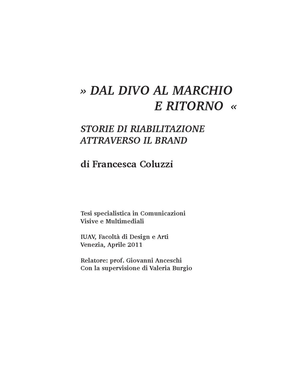 Dal divo al marchio e ritorno by francesca coluzzi issuu fandeluxe Gallery