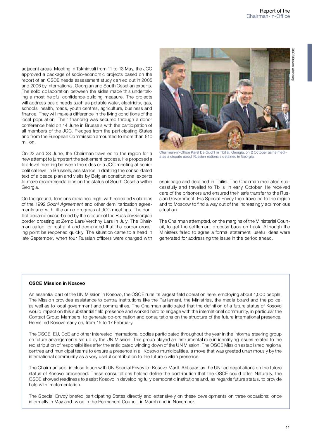 OSCE Annual Report 2006 by The Organization for Security and Co-operation  in Europe (OSCE) - issuu