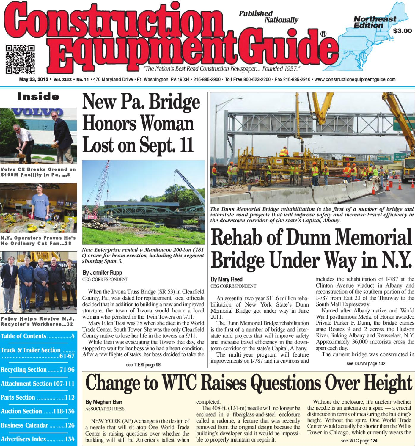 Northeast #11, 2012 by Construction Equipment Guide - issuu