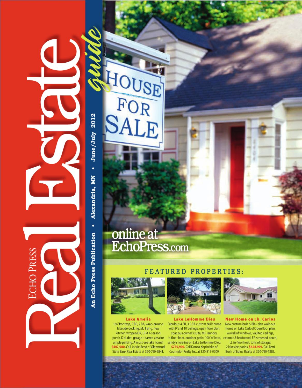 Real Estate Guide - June / July 2012 by Echo Press - issuu