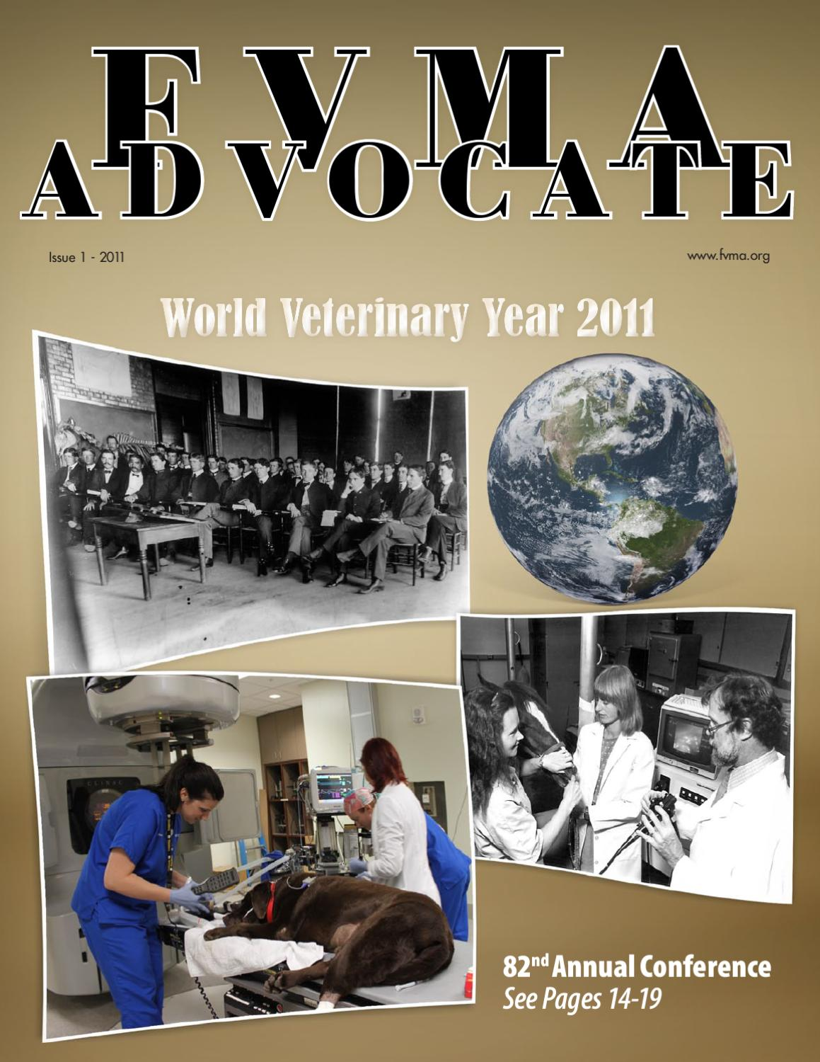 2011 Advocate Issue 1 by FVMA - issuu