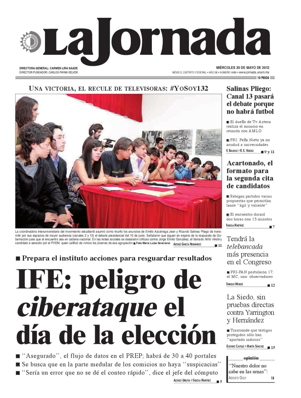 La Jornada, 05/30/2012 by La Jornada: DEMOS Desarrollo de Medios SA ...