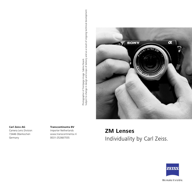 Carl Zeiss ZM lens leaflet by Transcontinenta B V  - issuu
