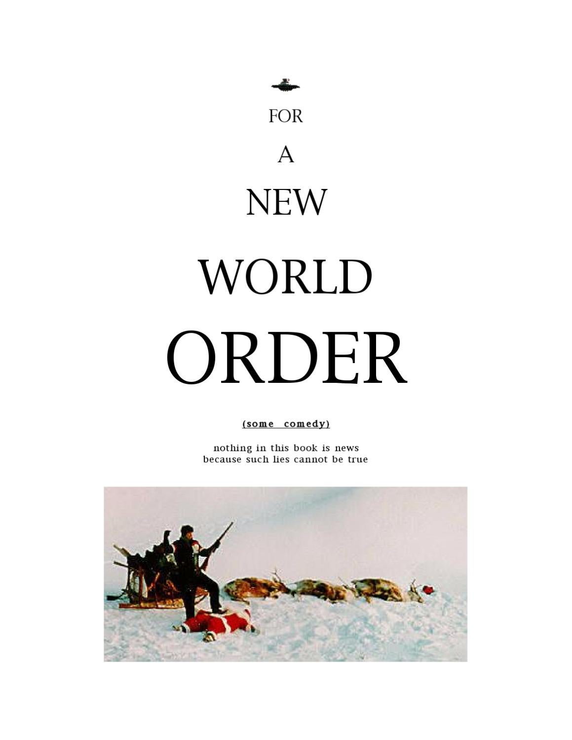 For A New World Order: Some Comedy by Rev Jonathan Barlow Gee - issuu