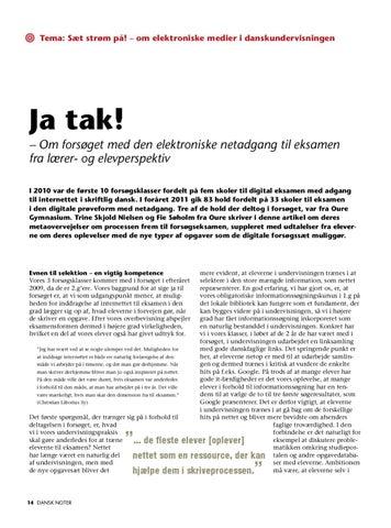 dansk skriftlig eksamen noter