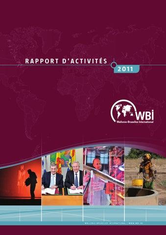 Rapport d activités 2011 - Wallonie - Bruxelles International by ... 4654e4dccc15