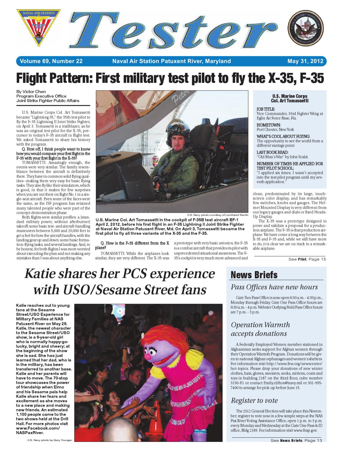 May 31, 2012 Tester newspaper by NAS Patuxent River - issuu