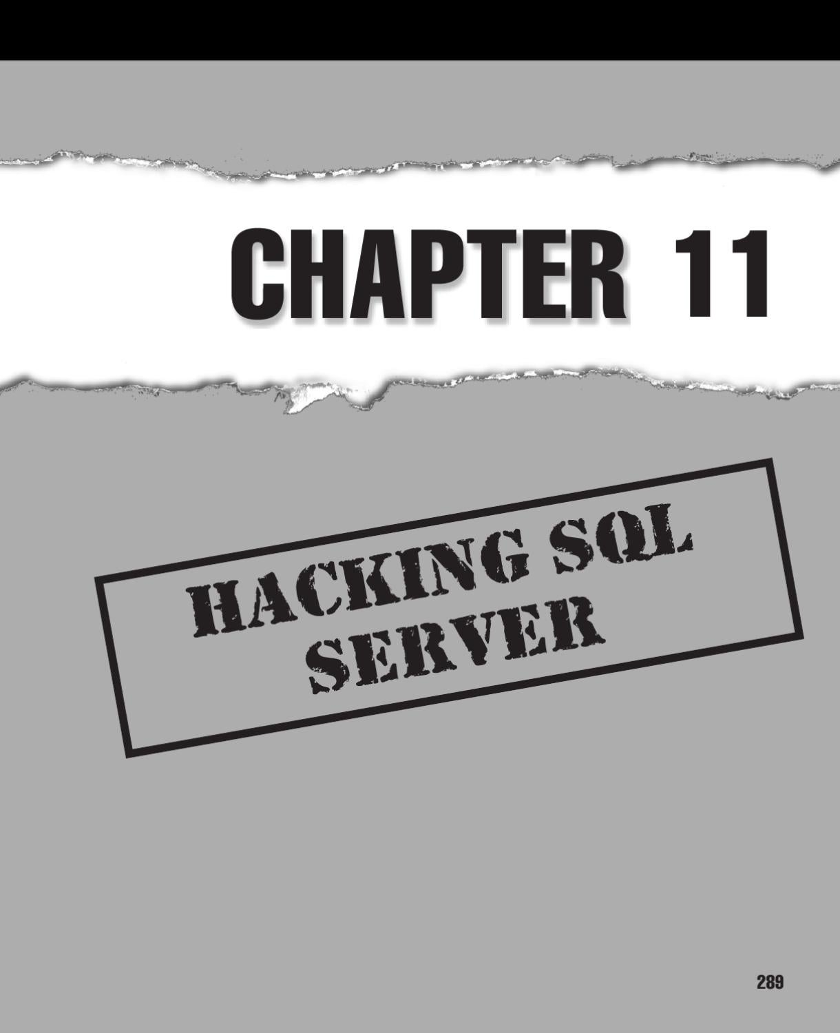 Hacking SQL Server by Mangalamurthy Bhat - issuu