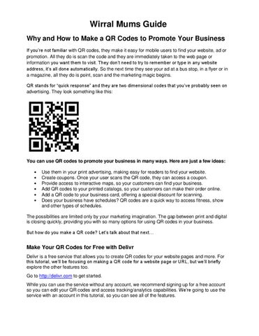 wirral mums guide qr codes by wirral mums mag issuu