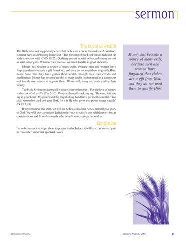 Dynamic Steward Journal, Vol  11 No  1, Jan - Mar 2007