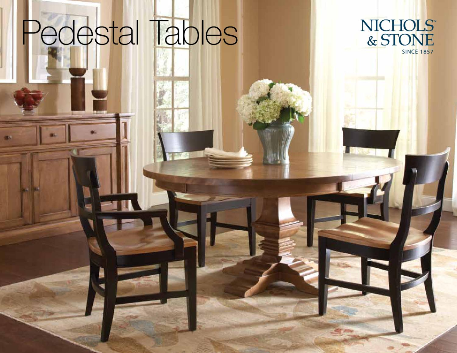 Pedestal Tables By Nichols Stone By Stickley
