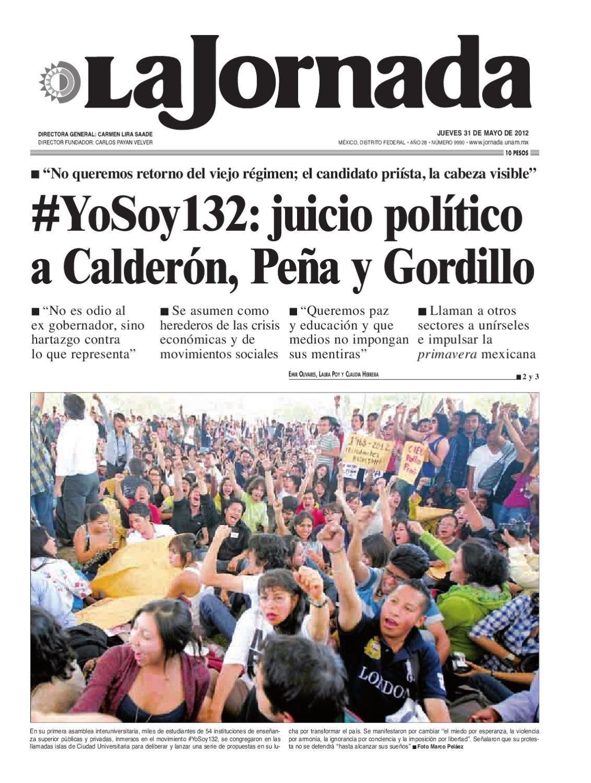 La Jornada, 05/31/2012 by La Jornada - issuu
