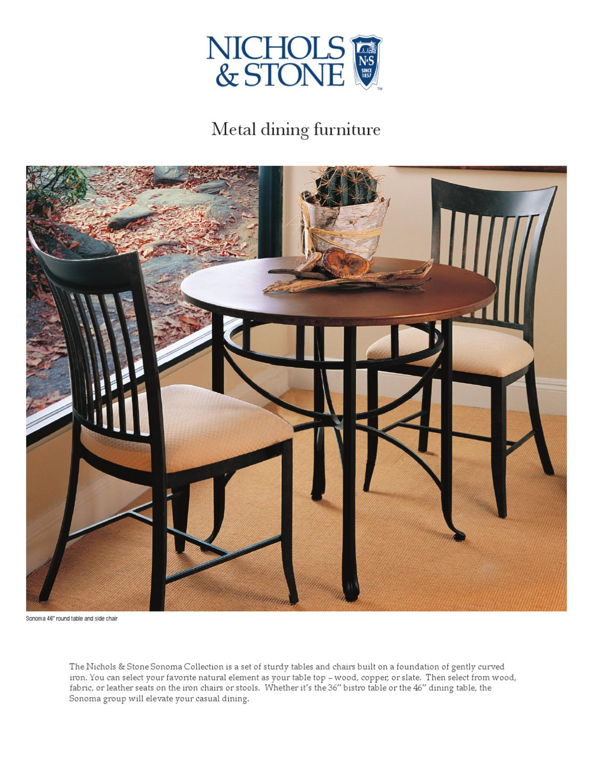 Metal Dining Furniture By Nichols U0026 Stone By Stickley   Issuu